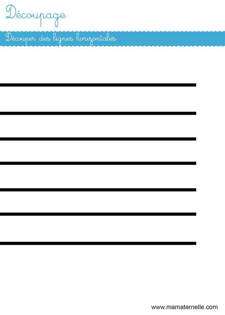 Moyenne section - Découpage : lignes horizontales