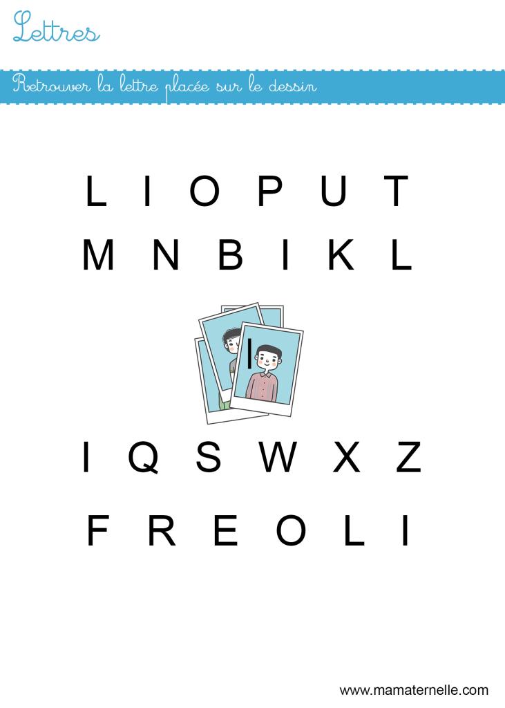 Petite section - Lettres : retrouver les lettres I