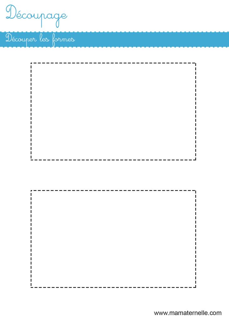 Grande section - Découpage : découper les formes