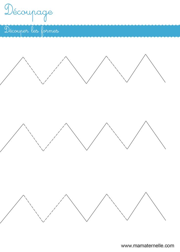 Grande section - Découpage : découper les lignes