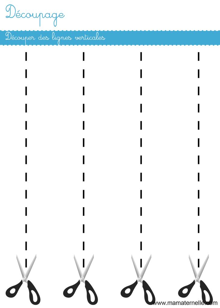 Petite section - Découpage : découper des lignes verticales