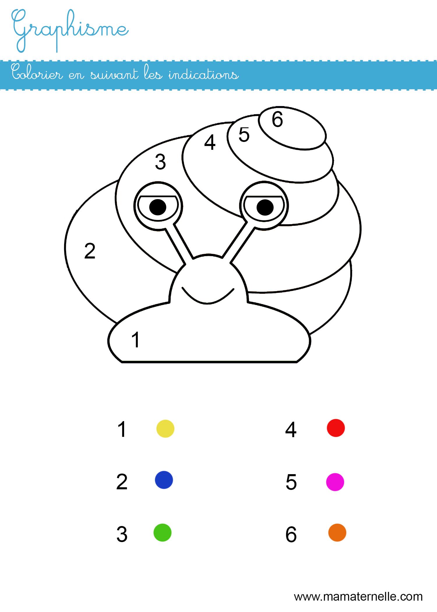 Graphisme  colorier en suivant les indications   Ma Maternelle
