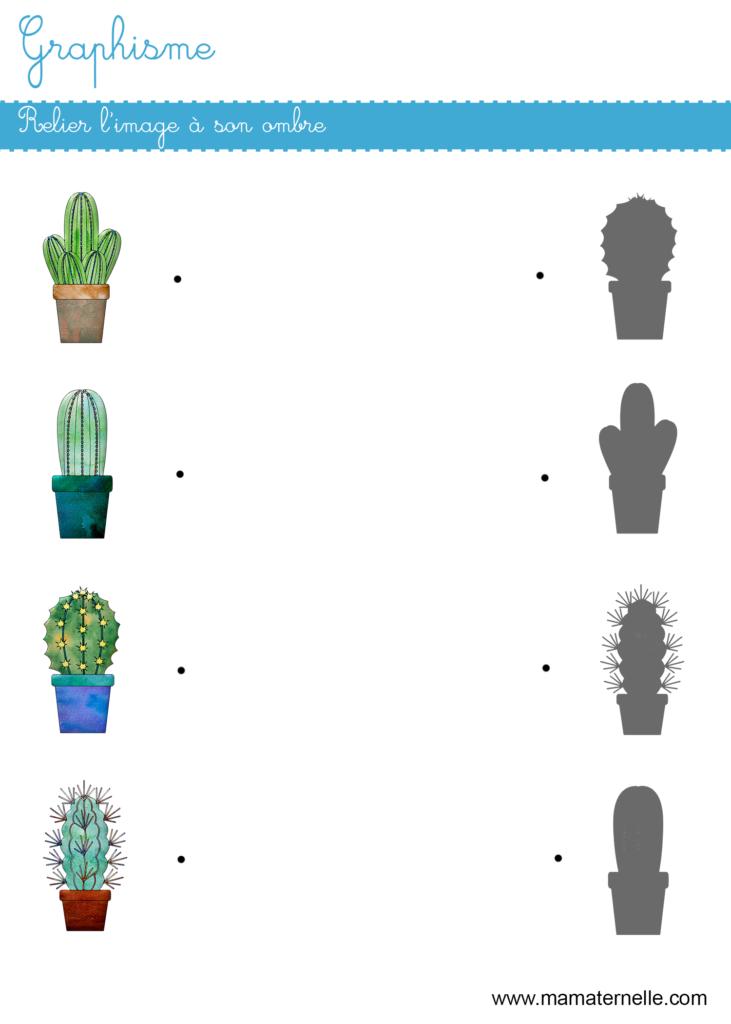 Petite section - Graphisme : relier l'image à son ombre
