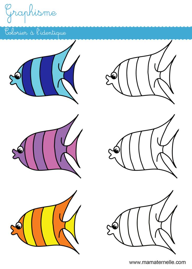 Moyenne section - Graphisme : colorier à l'identique