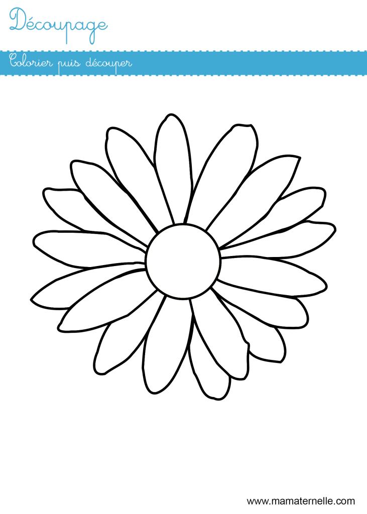 Grande section - Découpage : colorier et découper