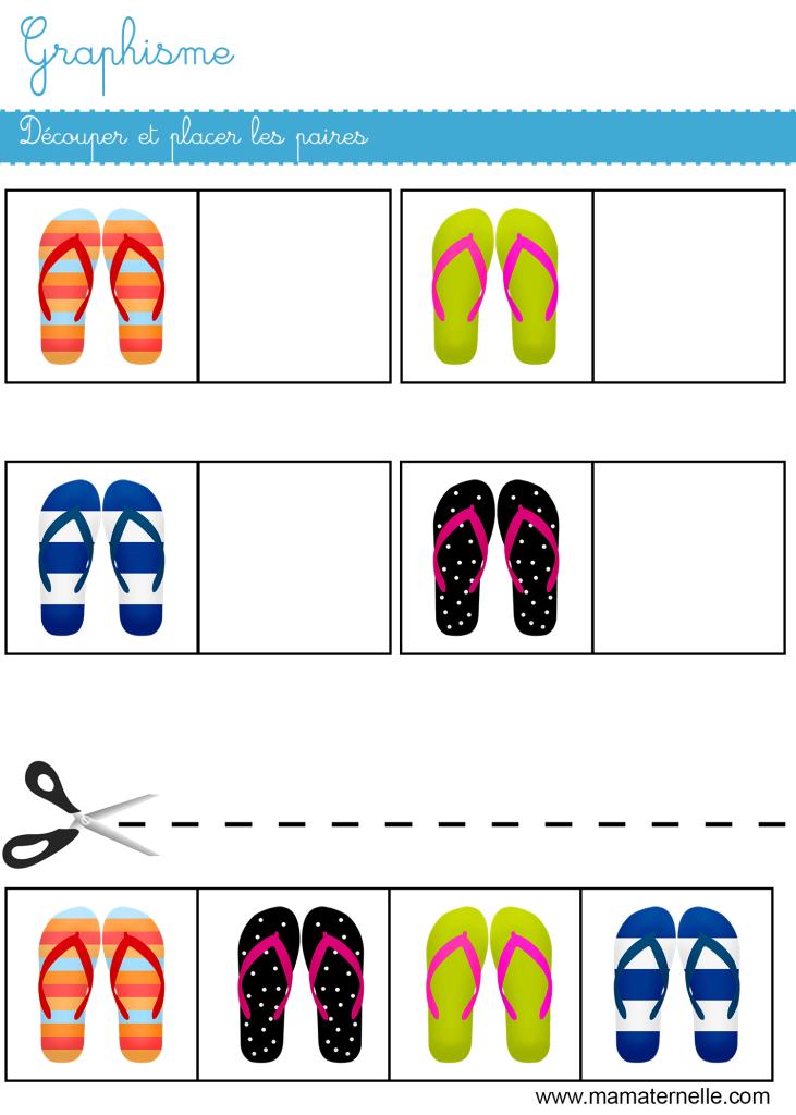 Petite section - Graphisme : découper et placer les paires