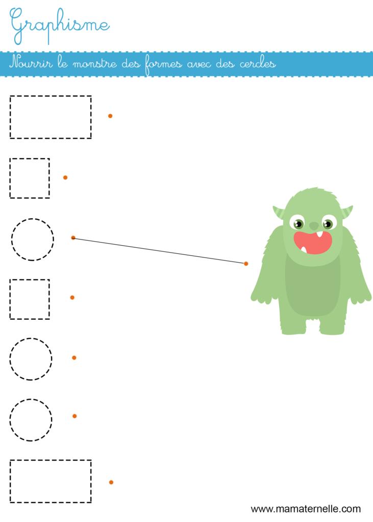 Petite section - Graphisme : nourrir le monstre des formes avec des cercles
