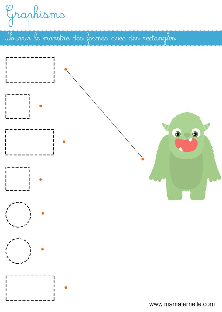 Petite section - Graphisme : nourrir le monstre des formes avec des rectangles