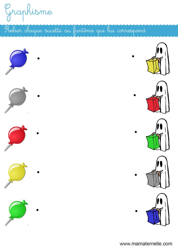 Petite section - Graphisme : relier l'image à celle qui correspond