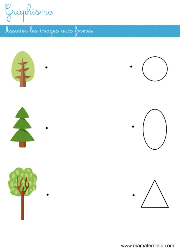 Petite section - Graphisme : associer les images avec les formes