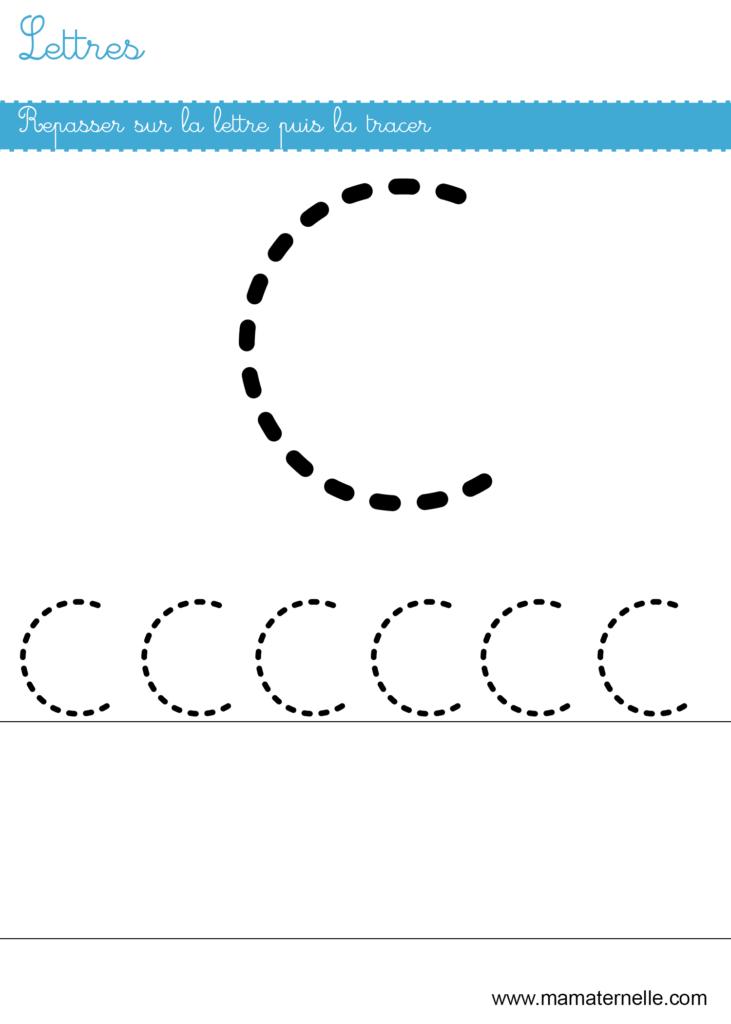 Petite section - Lettres : repasser sur la lettre C