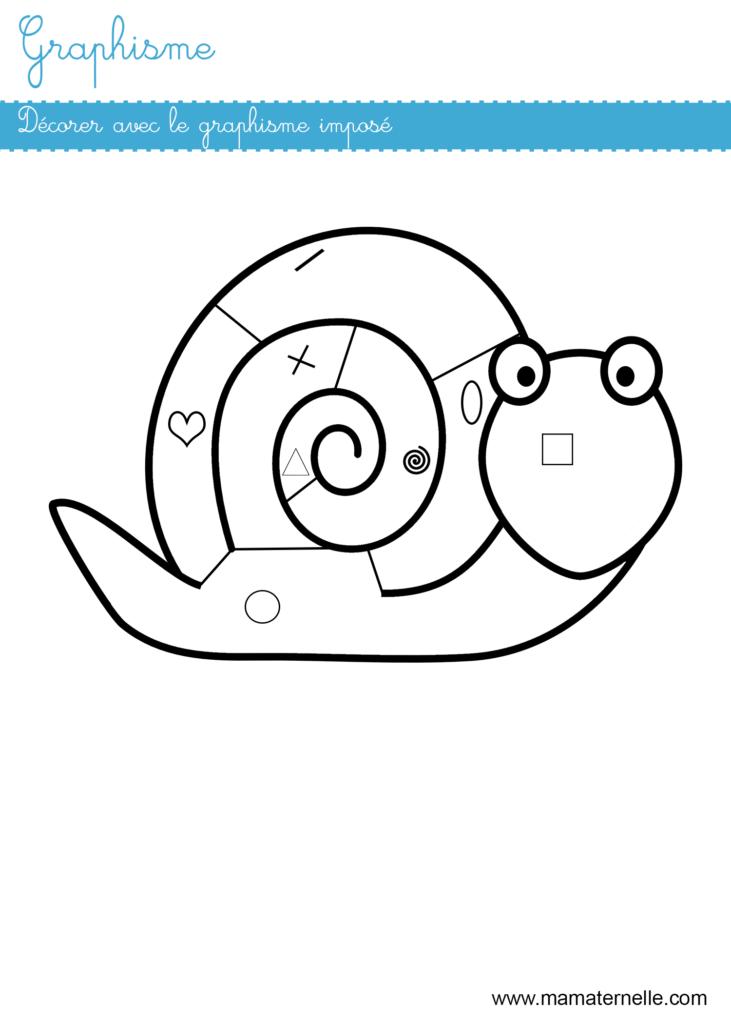 Moyenne section - Graphisme : décorer avec le graphisme imposé