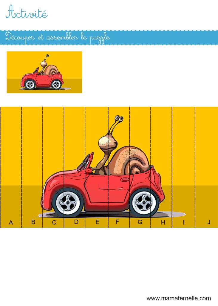 Activités - Activité : découper et assembler le puzzle