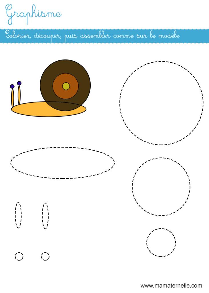 Grande section - Graphisme : colorier, découper et coller