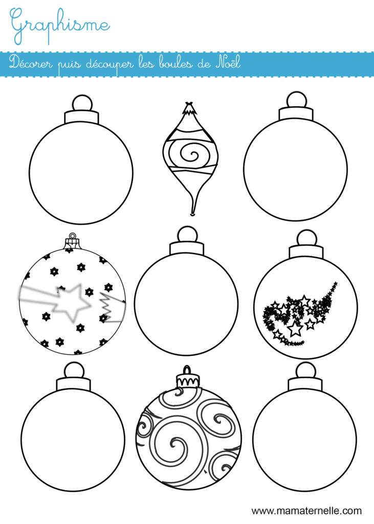 Moyenne section - Graphisme : décorer puis découper