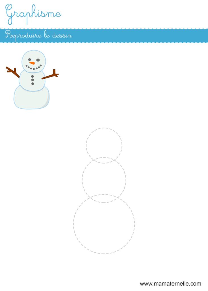 Petite section - Graphisme : reproduire le dessin