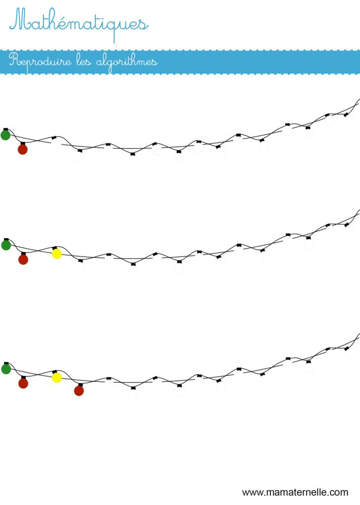 Moyenne section - Mathématiques : reproduire un algorithme