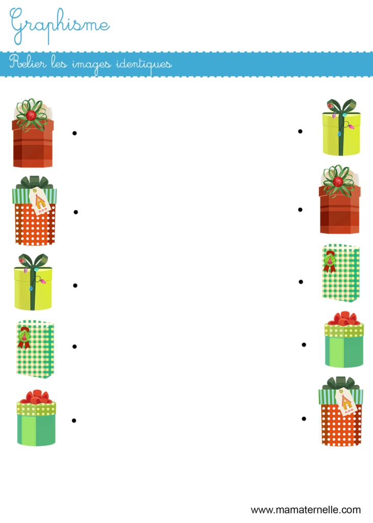 Petite section - Graphisme : relier les images identiques