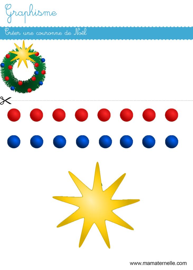 Grande section - Graphisme : créer une couronne de Noël