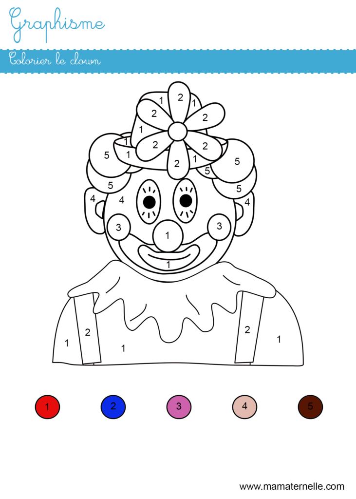 Moyenne section - Graphisme : colorier suivant les numéros