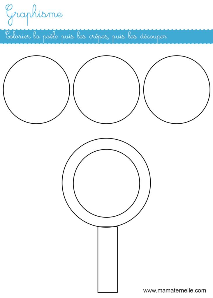 Moyenne section - Graphisme : activité crêpe