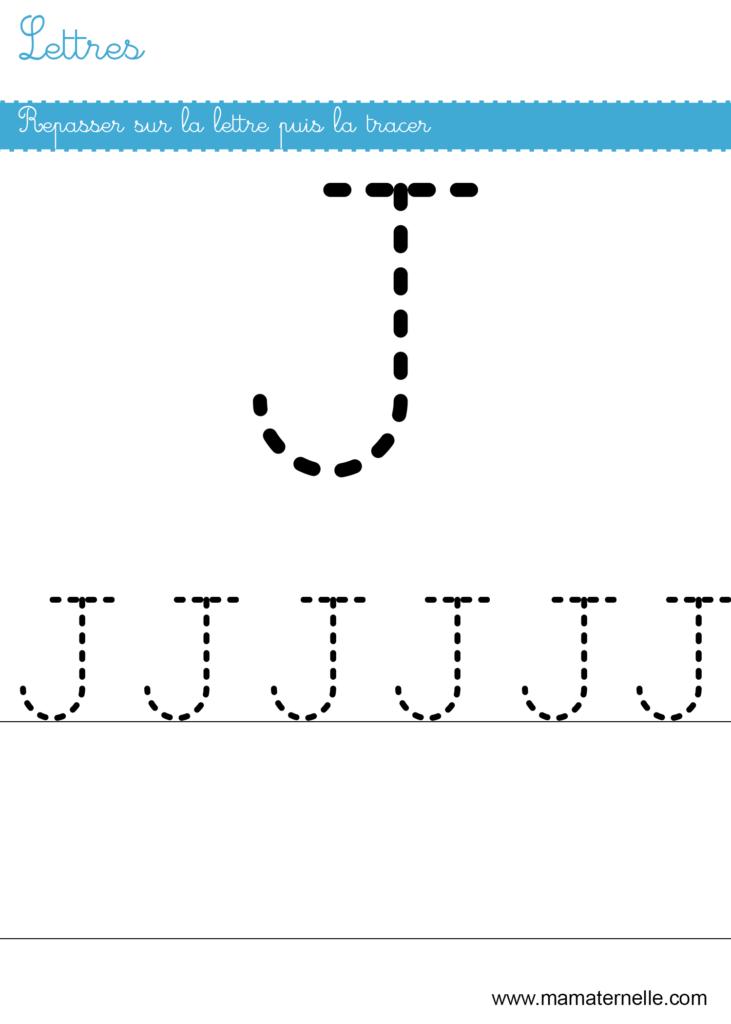 Petite section - Lettres : repasser sur la lettre