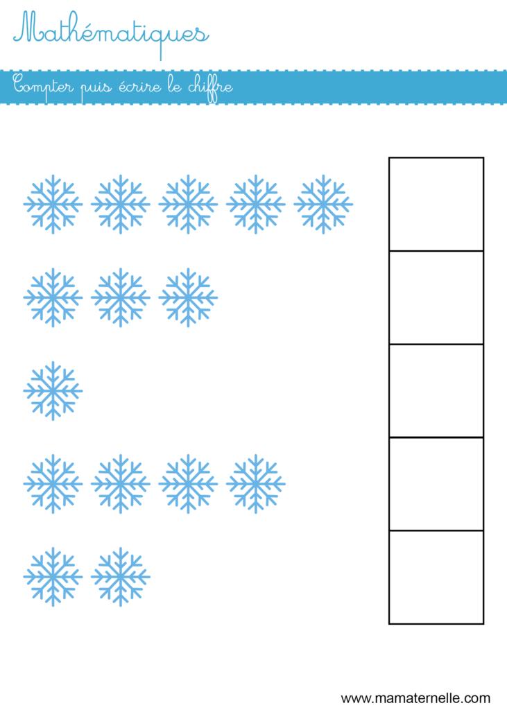 Moyenne section - Mathématiques : compter puis écrire
