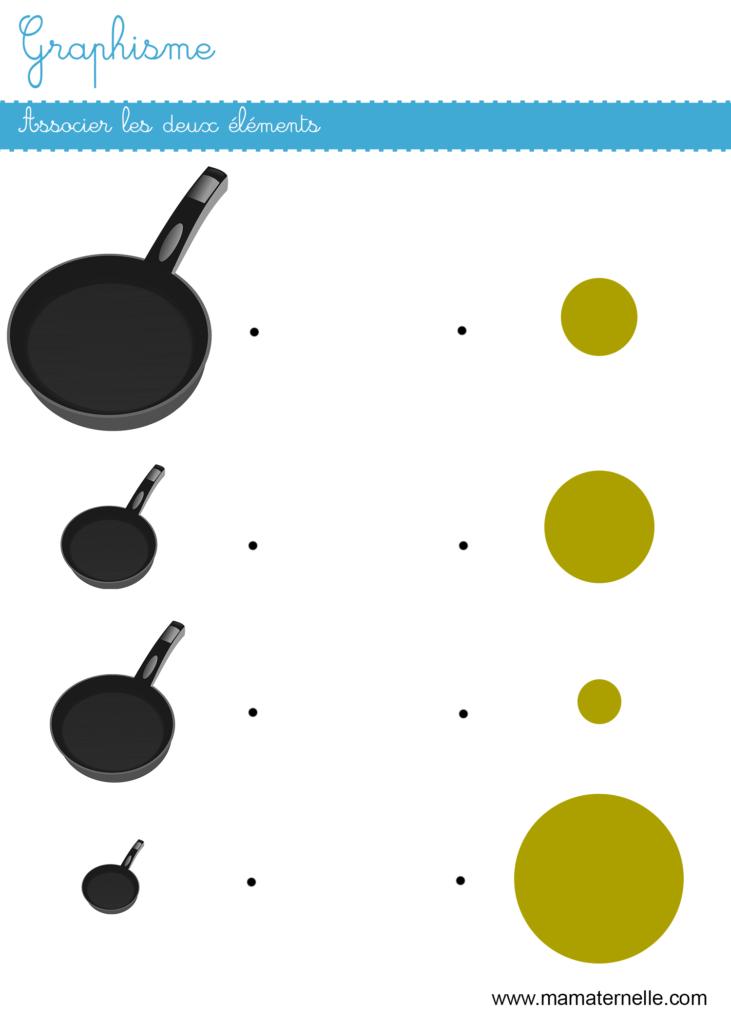 Moyenne section - Graphisme : associer les éléments
