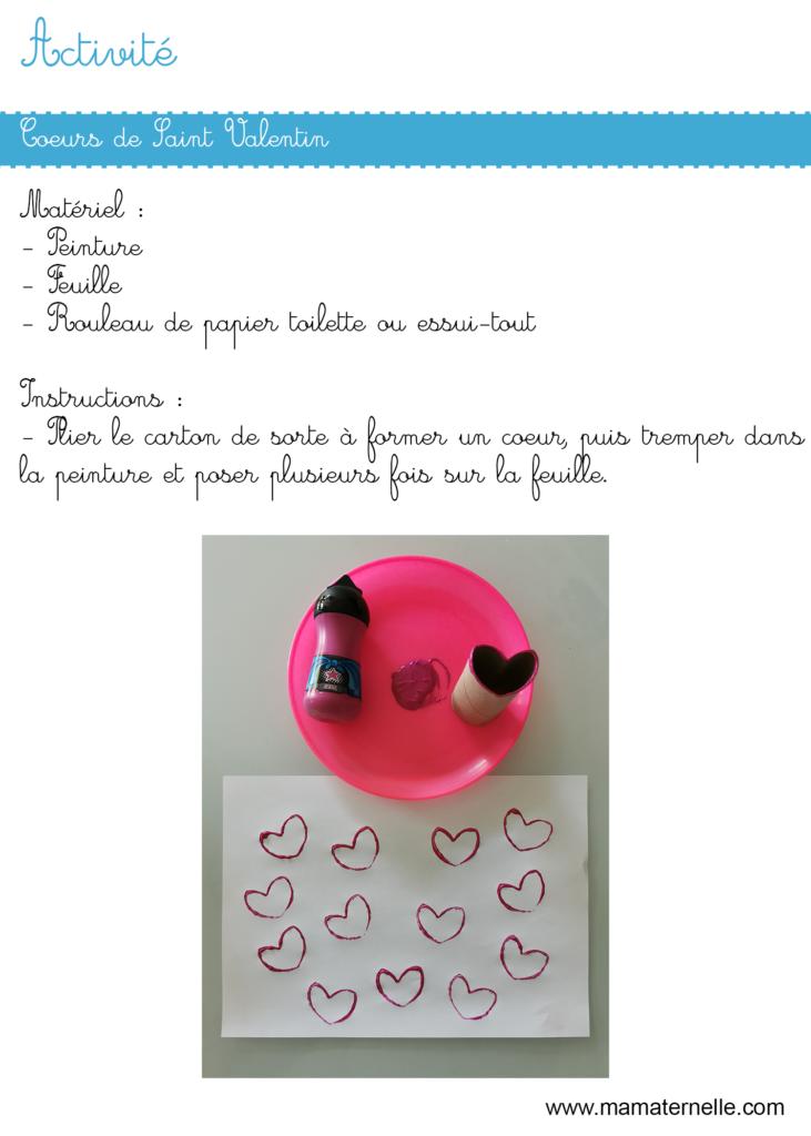 Activités - Activité : cœurs de Saint Valentin