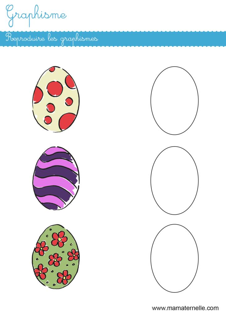 Grande section - Graphisme : reproduire les graphismes