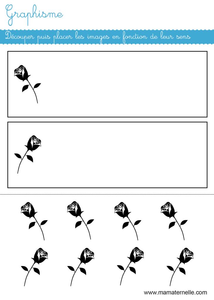Moyenne section - Graphisme : découper et coller en fonction du sens