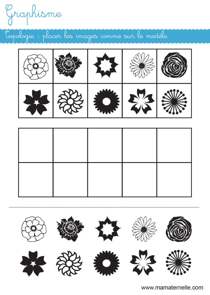 Moyenne section - Graphisme : topologie printemps