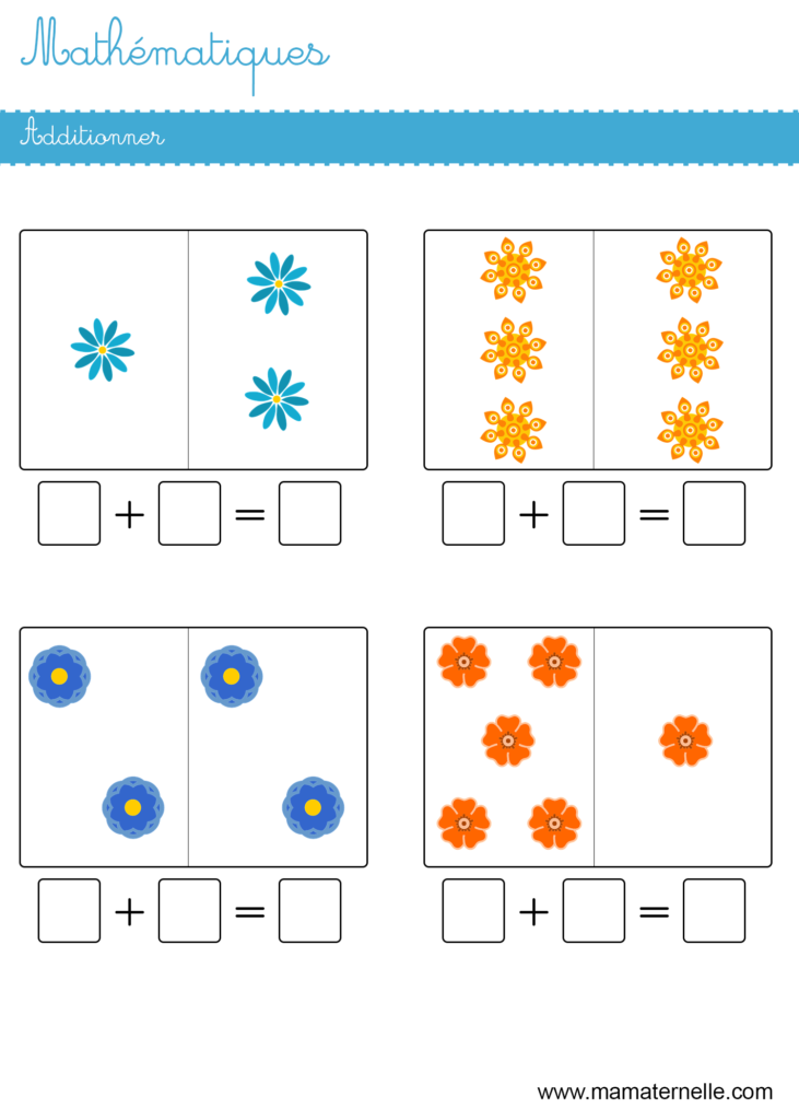 Grande section - Mathématiques : additionner