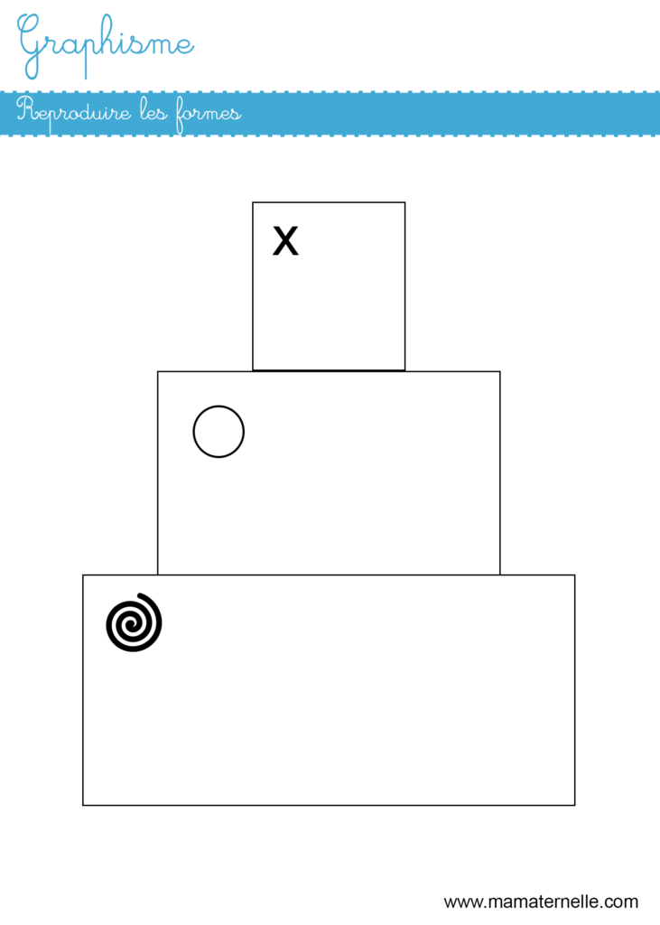 Moyenne section - Graphisme : reproduire les formes