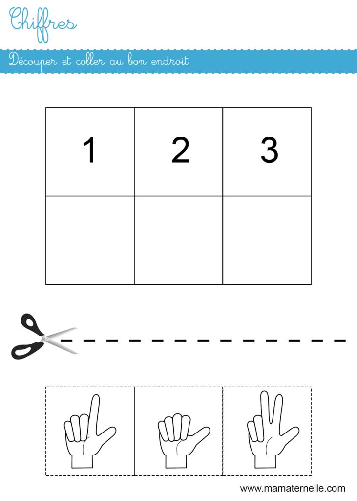 Petite section - Mathématiques : découper et coller