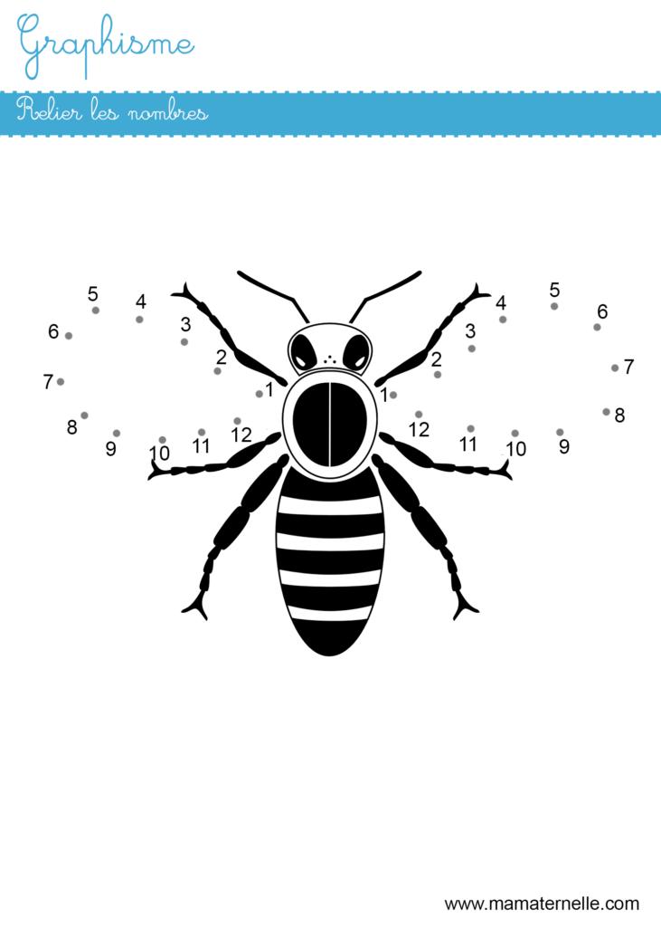 Grande section - Graphisme : relier les nombres