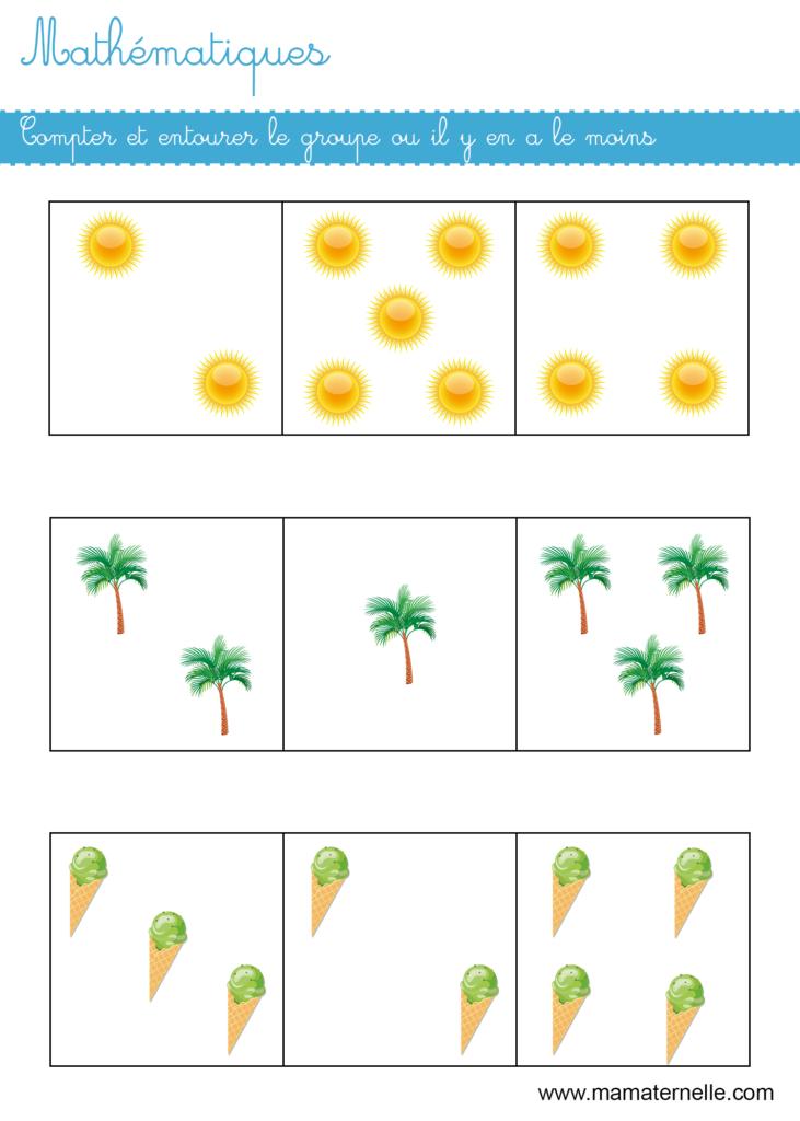 Moyenne section - Mathématiques : compter et entourer