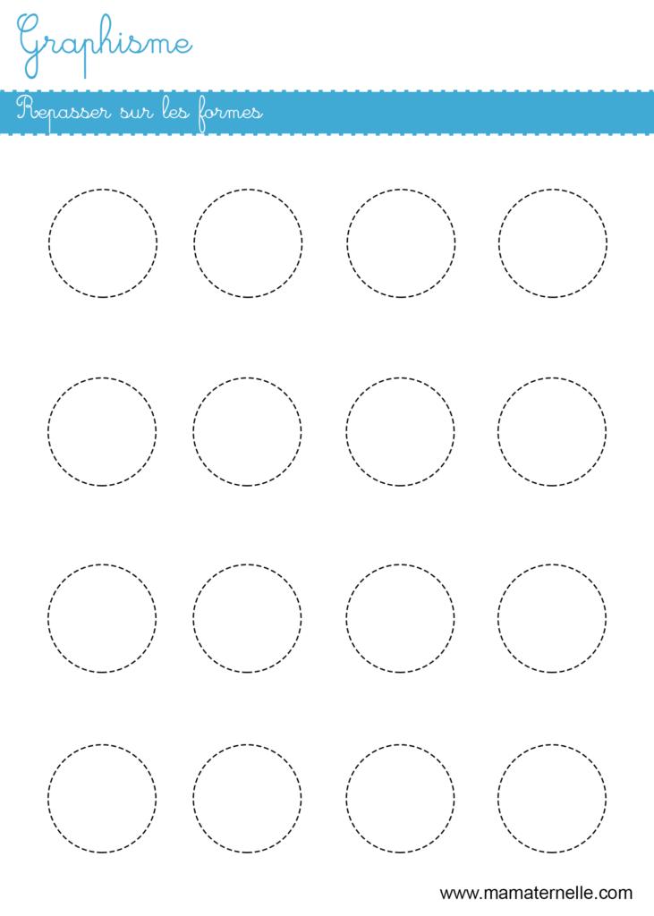 Moyenne section - Graphisme : repasser sur les formes
